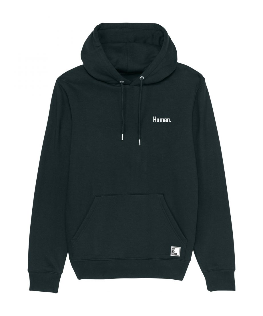 Out Of The Closet - Human - Hoodie - Black - Pride & Gay Clothing